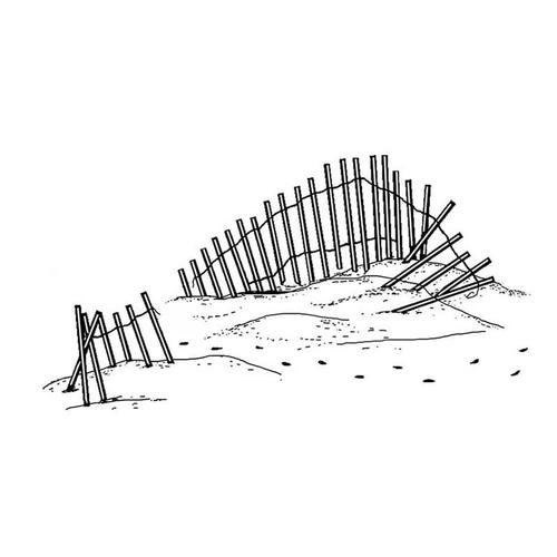 Frog's Whiskers Ink Stamp - Beach Fence