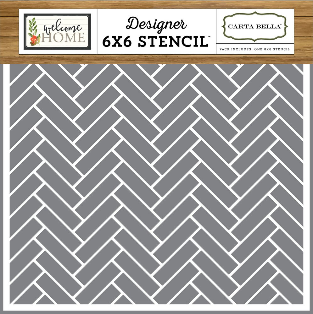 Carta Bella Chevron Tiles 6x6 Stencil