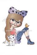 Clear Stamp Lovely Lena - Lena Animal Lover