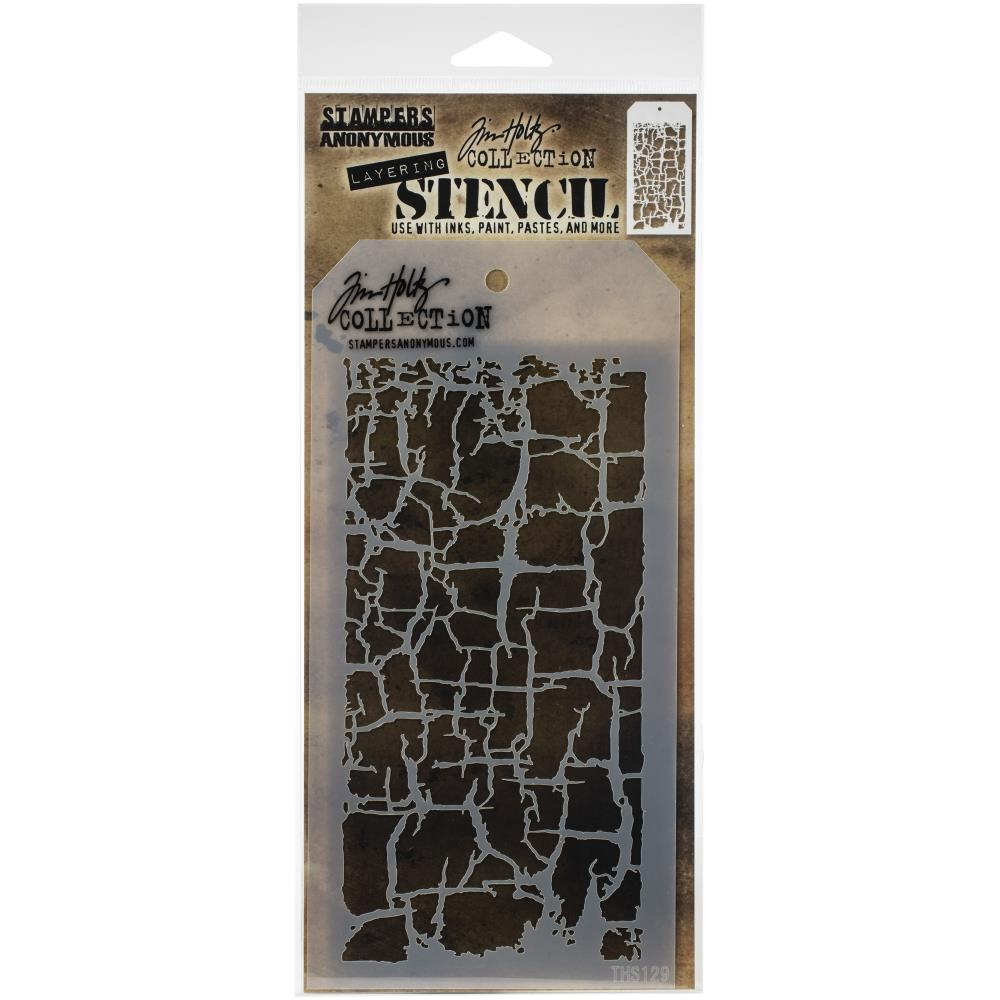 Stampers Anonymous  Layering Stencil: Decay by Tim Holtz