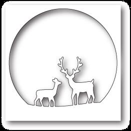 Memory Box - Deer Family Circle Die