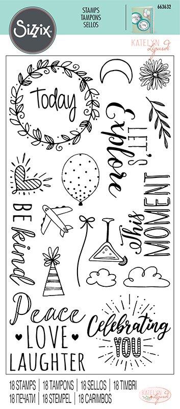 Sizzix Everyday Sentiments Stamp Set