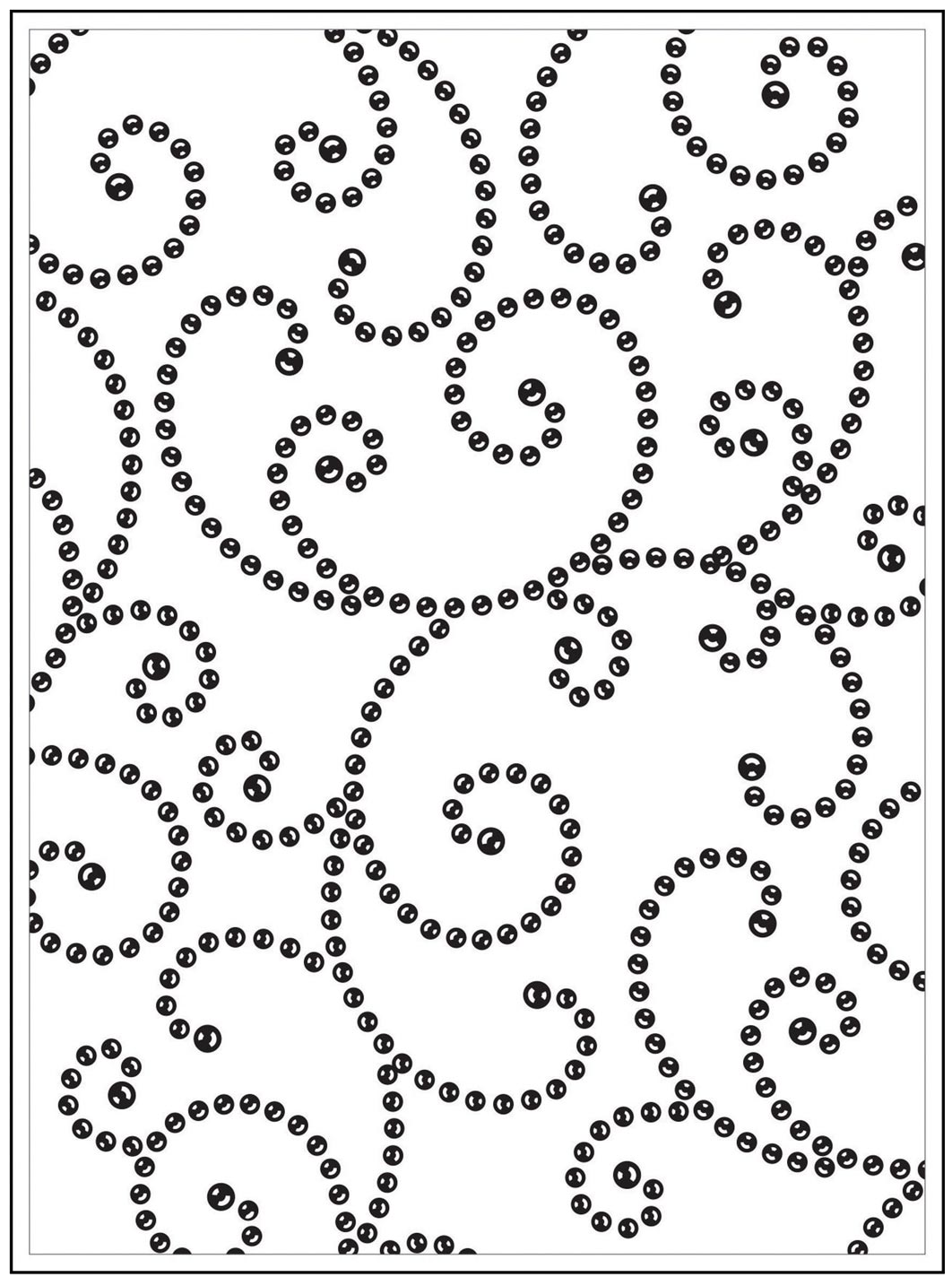 Darice Gem Swirls Background Embossing Folder