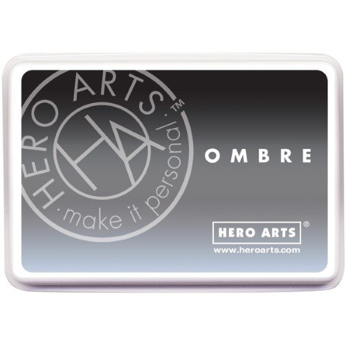 Hero Arts Ombre Ink Pad -Soft Granite to Black
