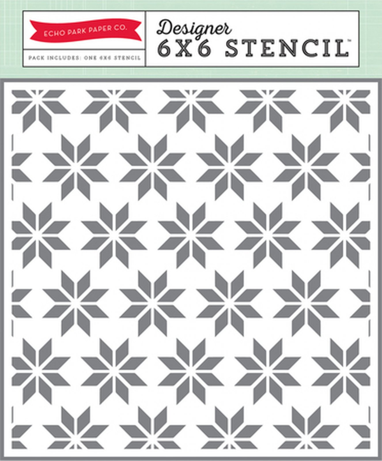Echo Park Holiday Quilt 6x 6 Stencil