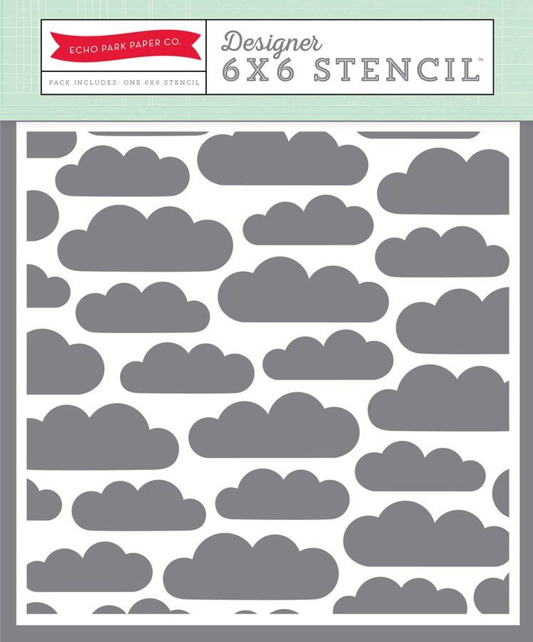 Echo Park Clouds 6x6 Stencil