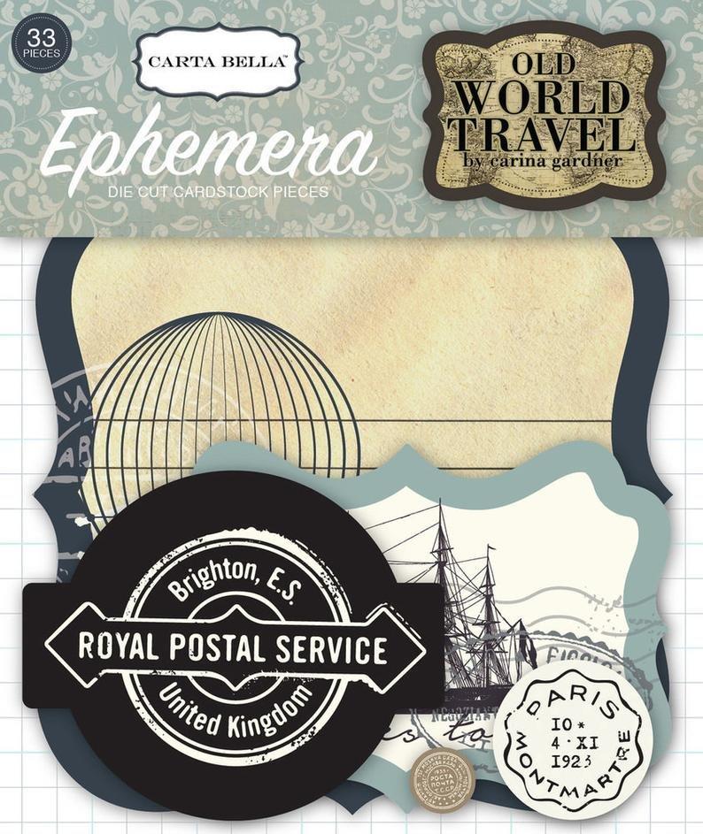Carta Bella Old World Travel Ephemera