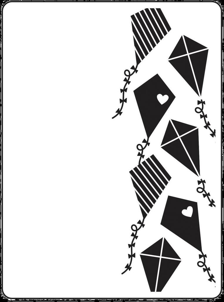 Darice Stacked Kites Embossing Folder