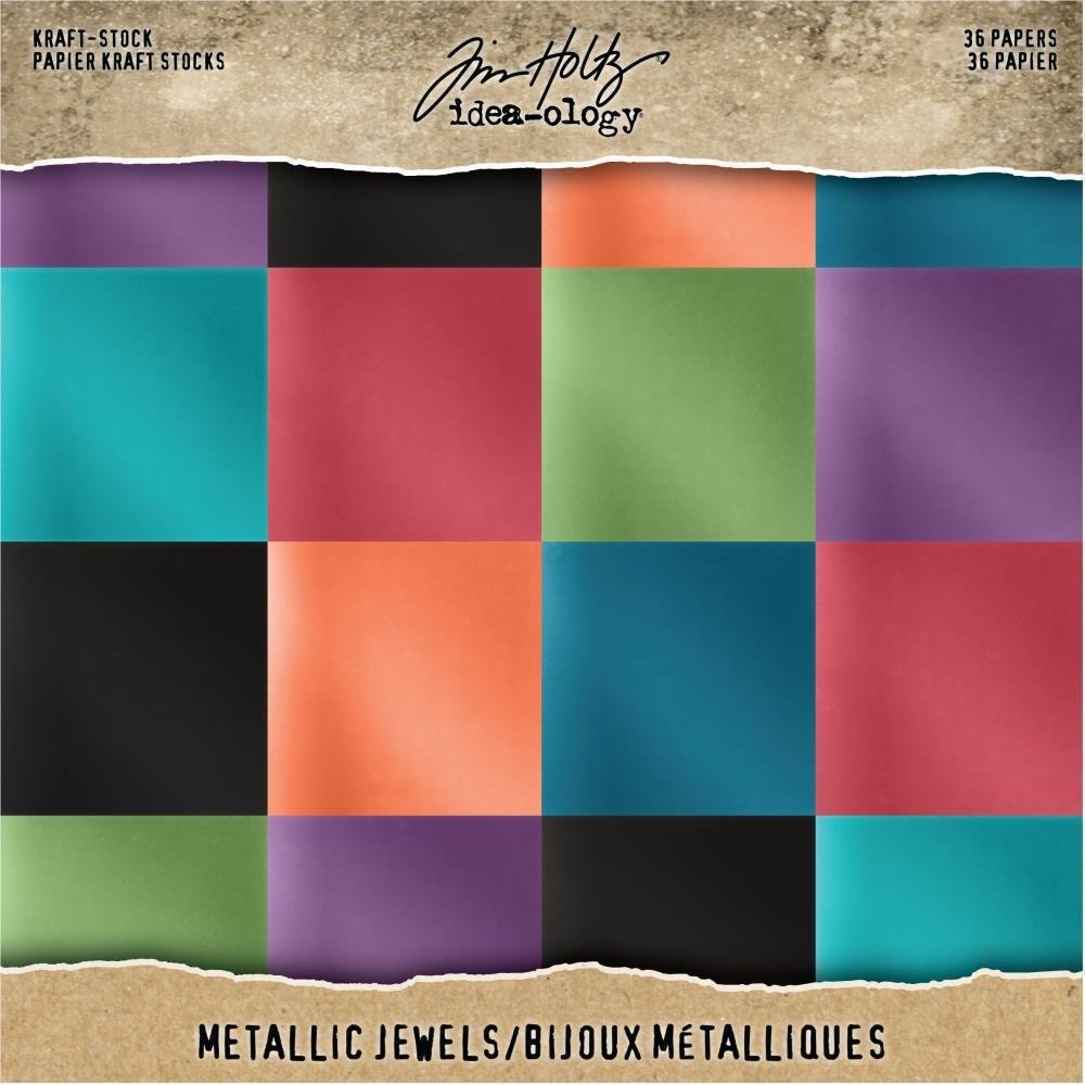 Tim Holtz Idea-ology Metallic Jewel Kraft Stock Paper