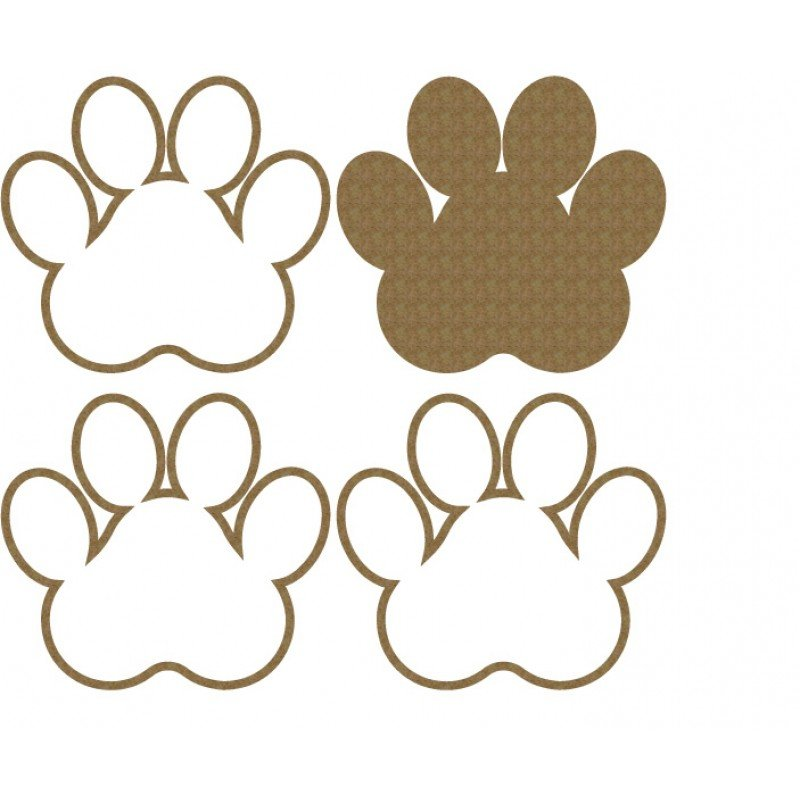 Creative Embellishments Pawprint Shaker Set