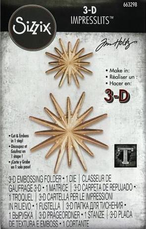 Sizzix Tim Holtz 3-D Impresslit Radiant Embossing Folder