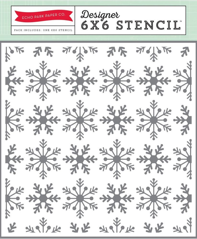 Echo Park Snowflake #2 6x 6 Stencil