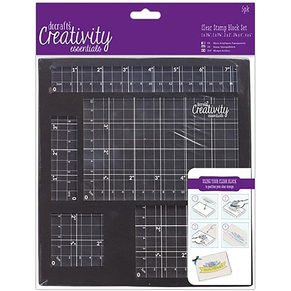 Docrafts Creativity Essentials Clear Stamp Block Set