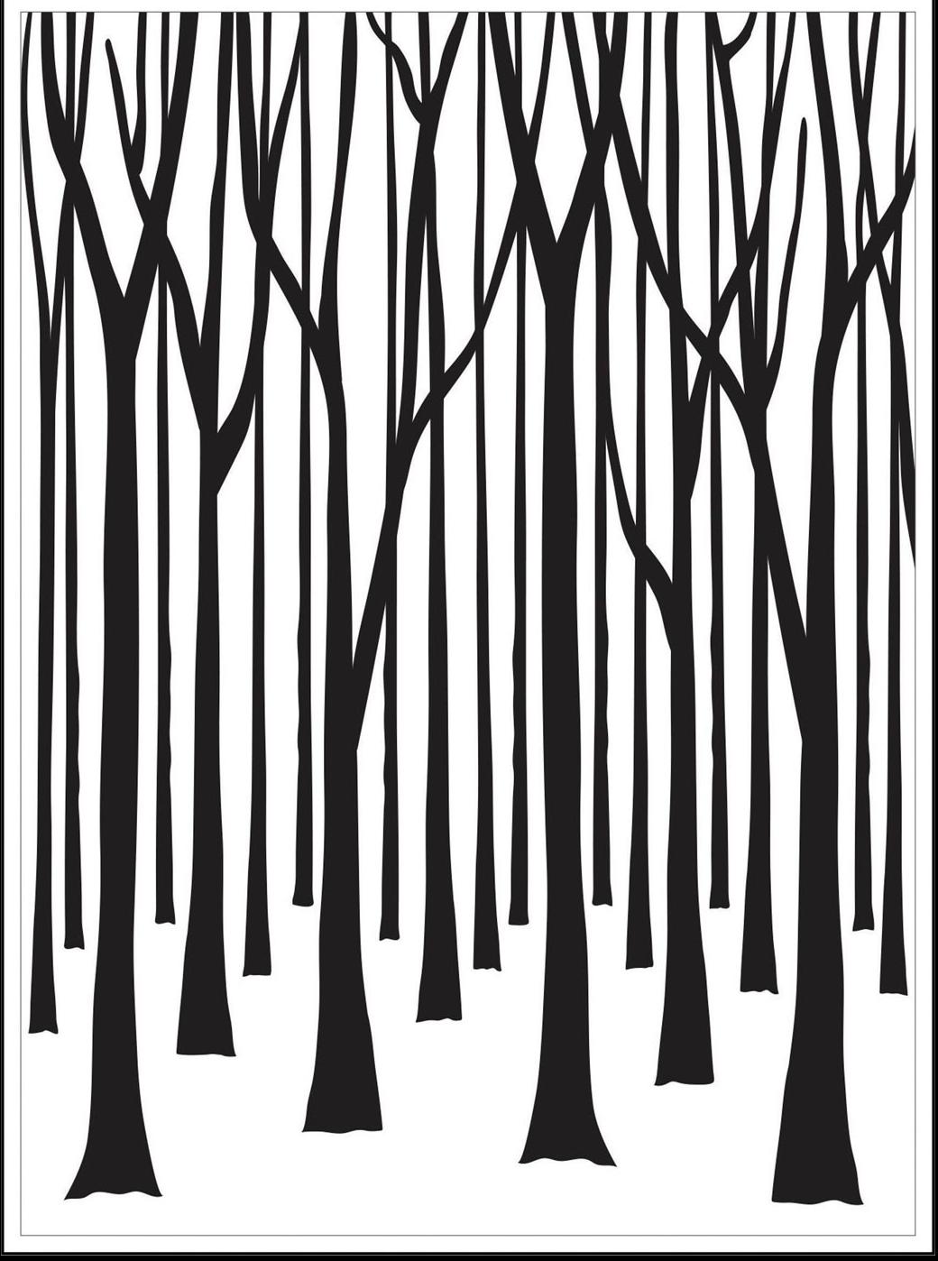 Darice Thin Tree Trunk Embossing Folder