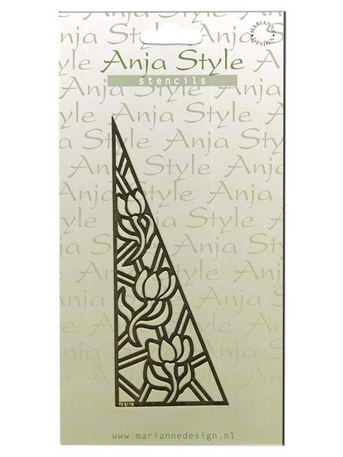 Anja Style Stencil Flower/Triangle