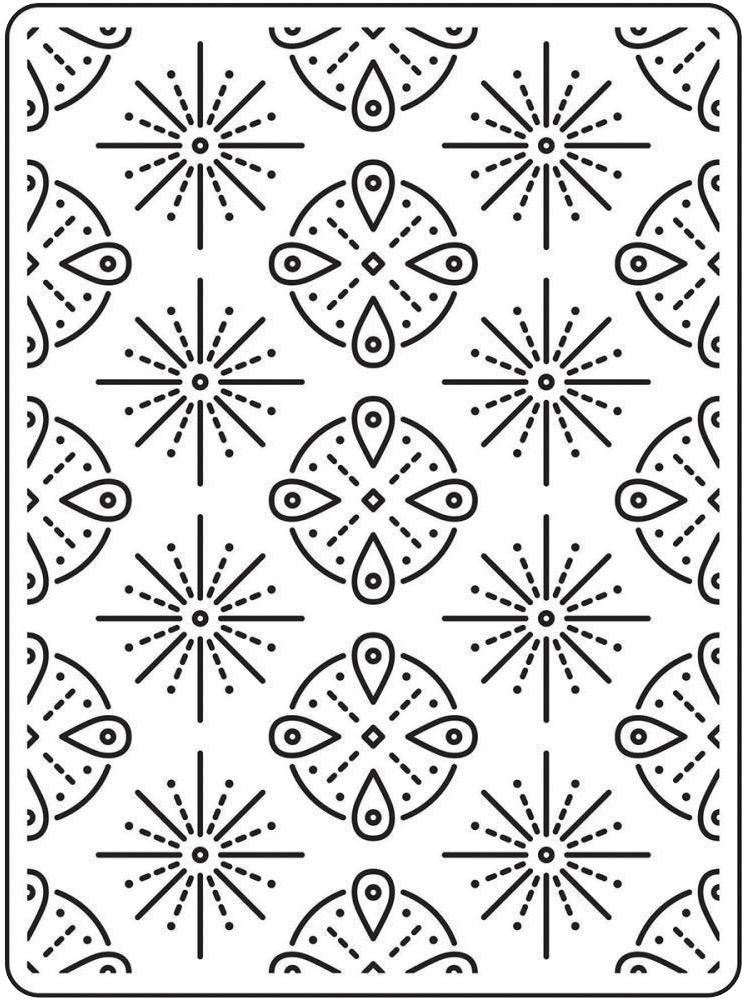 Darice Tribal Background Embossing Folder