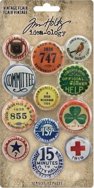 Idea-Ology Metal Adornments 12/Pkg-Vintage Flair
