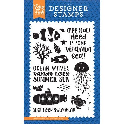 Echo Park Vitamin Sea Stamp 4x6