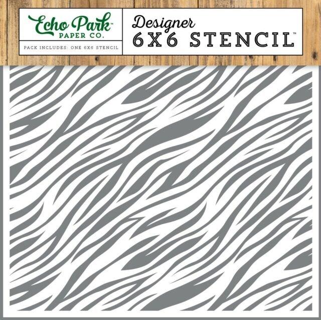 Echo Park Zebra Print 6x 6 Stencil