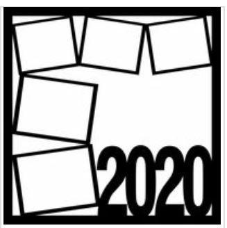 12x12 Scrapbook Overlay - 2020