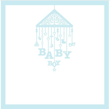12x12 Scrapbook Overlay - Baby Boy Mobile