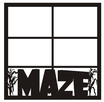 12x12 Scrapbook Overlay - Corn Maze Page 2