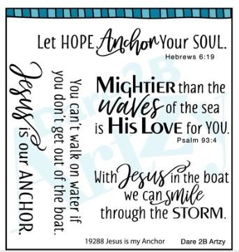 Jesus is my anchor stamp