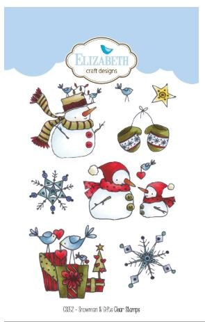 Elizabeth Craft Snowman & Gifts Clear Stamps