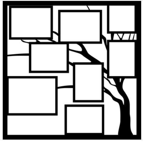 12x12 Scrapbook Overlay - Family Tree pg 2