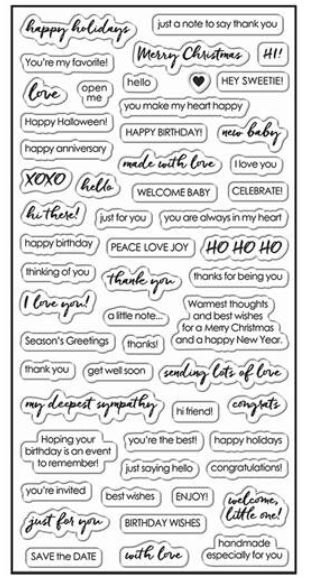 Fiskars Essential Sayings Stamp Set