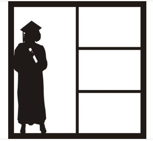 12x12 Scrapbook Overlay - Girl Graduate