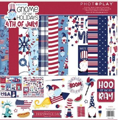 PhotoPlay Collection Pack 12X12-Gnome For July 4th