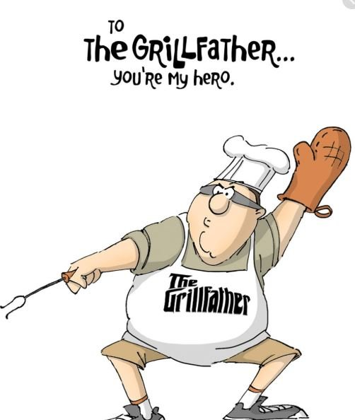 Art Impressions-Grill Father Stamp