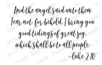Angel Said fear not for behold I bring you good tiding