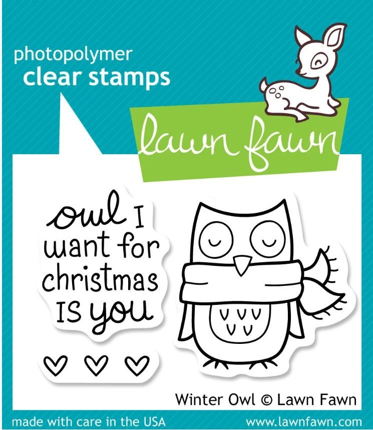 Lawn Fawn-Winter Owl Stamp