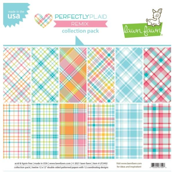 Lawn Fawn Perfectly Plaid Remix 12x12 Collection Pack