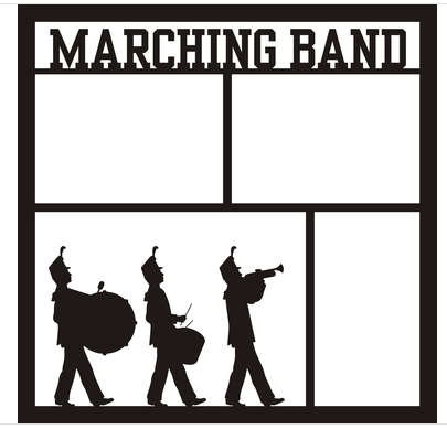 12x12 Scrapbook Overlay - Marching Band