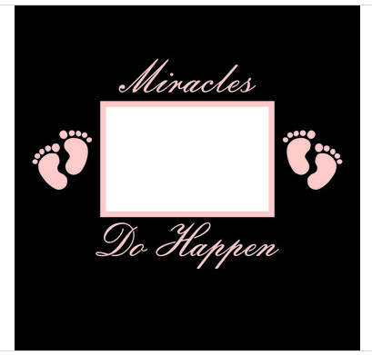 12x12 Scrapbook Overlay -  Miracles Do Happen Girl