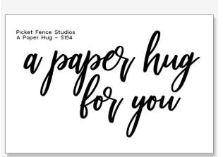 A Paper Hug for You Stamp