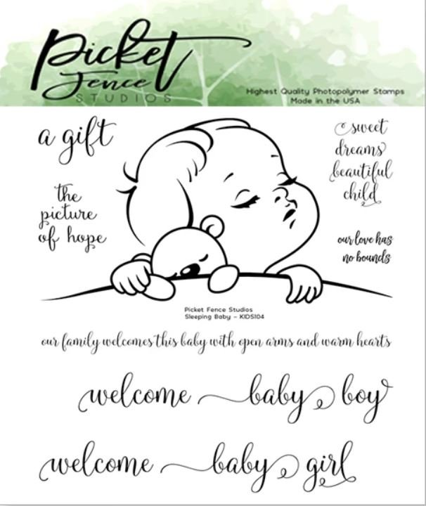 Sleeping Baby Stamp