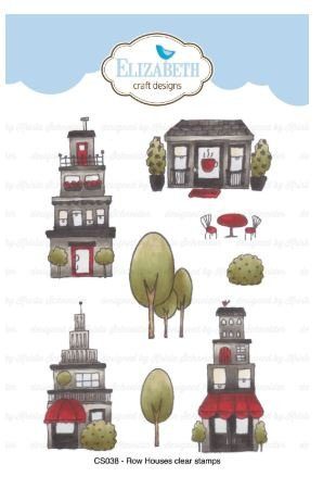 Elizabeth Craft Row Houses Stamp Set