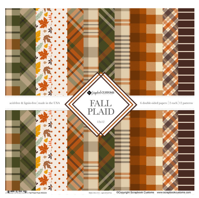 Scrapbook Customs 12x12 Fall Plaid Collection