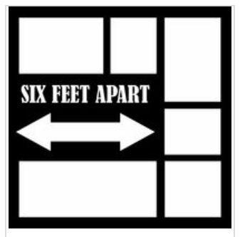12x12 Scrapbook Overlay - 6 Feet Apart