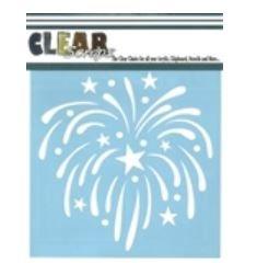 6 Fireworks Stencil