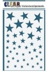 4x6 Stars Stencil
