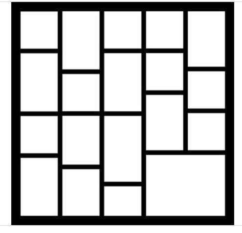 12x12 Scrapbook Overlay - Template