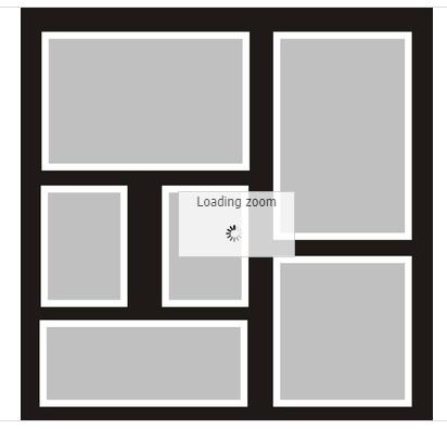 12x12 Scrapbook Overlay -  Template 5