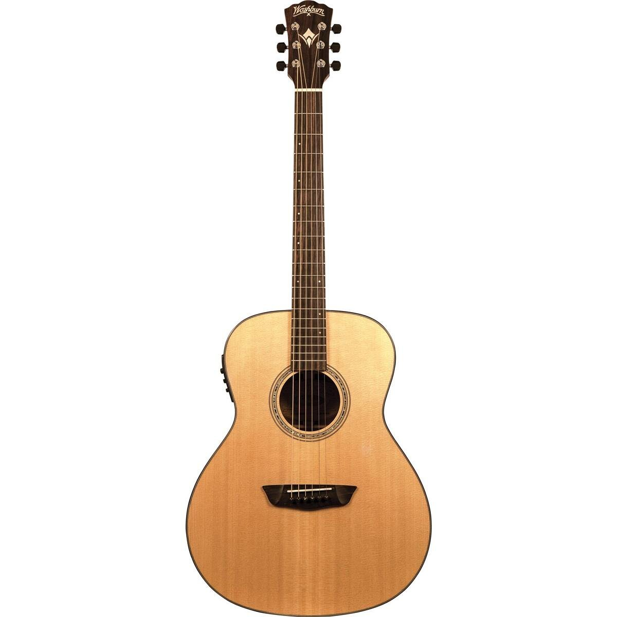 Washburn Woodline Orchestra Acoustic/Electric Guitar W/ Case