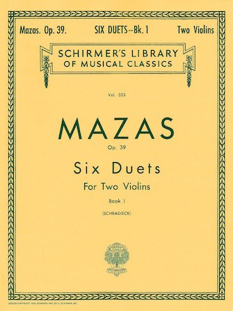 Schirmer's Library Two Violins