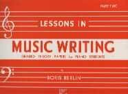 LESSONS IN MUSIC WRITING